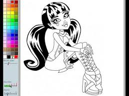 Small Picture Monster High Coloring Pages For Kids Monster High Coloring Pages