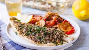 Simple Oven Baked Sea Bass