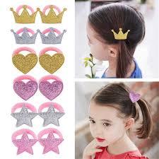 New Children <b>Girls Cute</b> Hear Star <b>Shining</b> Sequins BB Hair Clips ...