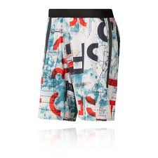 Details About Reebok Mens Crossfit Printed Speed Short Black Blue Red White Sports Gym