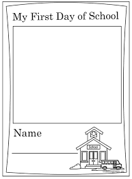 Small Picture First Day Of School Coloring Page fablesfromthefriendscom