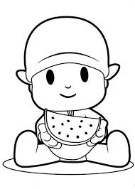 Watermelon Coloring Pages Coloring Pages Pocoyo Coloring Pages