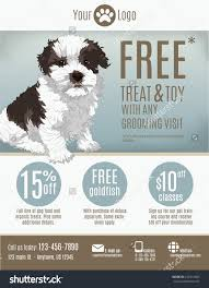flyer template pet store groomer discount stock vector 236741809 flyer template for a pet store or groomer discount coupons and advertisement featuring a cute