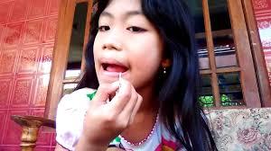 make up natural anak kecil