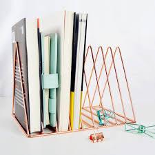 gold rose gold electroplated bookend desk organizer desktop office home bookends book holder black book