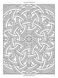 Difficult Geometric Design Coloring Pages Amazoncom Deco Tech
