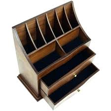 wooden makeup organizer wooden cosmetic organizer premium wooden cosmetic storage and office organizer with drawers wooden wooden makeup organizer