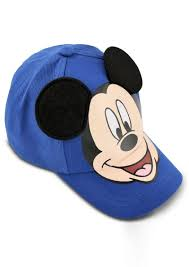 disney little boys mickey mouse cotton baseball cap with dimensional ears
