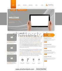 Website Template Amazing Corporate Website Template Vector Format Stock Vector 48
