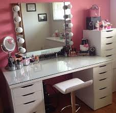 modern white vanity chair with low profile backrest and chrome leg white makeup vanity with clear