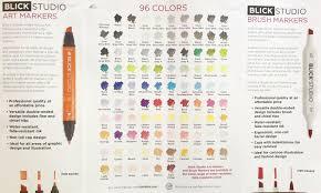 Blick Marker Color Chart Blick Studio Brush Markers Brush Markers Marker Art