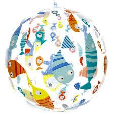 <b>Надувной мяч</b> Цветной с рыбками 51 см купить в Москве по цене ...