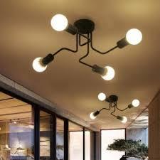 4 light semi flush ceiling light in