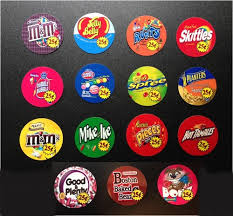 Candy Labels For Vending Machines Unique 48 Round Vinyl Vending Vendstar Candy Sticker Labels OUTSIDE MOUNT W