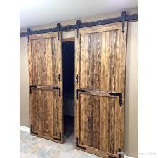 2018 8ft antique style country double door kit black rustic steel arrow sliding barn wood door closet hardware kit 8ft from sun shine 200 01 dhgate