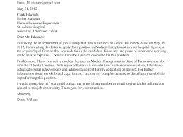 Medical Receptionist Cover Letter Medical Receptionist Cover Letter Samples Letters Clinic Sample