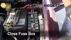 replace a fuse 1996 2000 dodge caravan 1999 dodge caravan 3 0l v6 2000 grand caravan fuse box location 6 replace cover secure the cover and test component