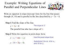 23 write an equation in slope intercept form