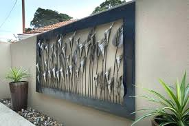 outdoor wall art ideas sweet decor plus metal outside design wrought iron