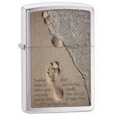 <b>зажигалка Zippo</b> 28180 <b>Footprint</b> in sand купить в магазине Гавана ...