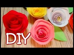 Flower Out Of Paper Twisted Paper Rose How To Make An Easy Rose Out Of Paper Youtube