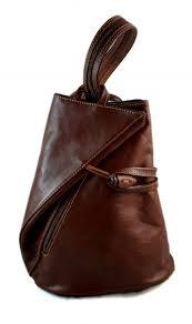 luxury leather backpack travel bag weekender sports bag red