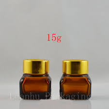 amber glass jars with gold lids and get free on aliexpress com