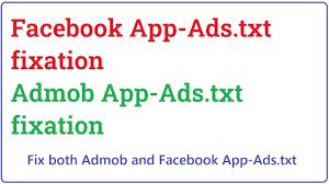 fix facebook app ads txt error you