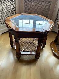 coffee table solid wood with glass top