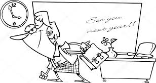 Summer Break Cartoons Cartoon Teacher Summer Vacation