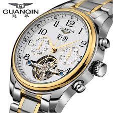 tourbillon luxury watches men top brand original guanqin sapphire top brand original guanqin sapphire waterproof auto mechanical watches fashion men wristwatch desc