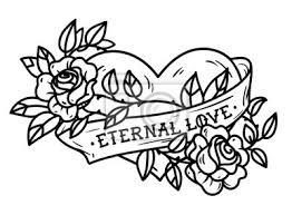 Obraz Srdce Propletené V Lezení Na Růžové Tetování Srdce Propletené
