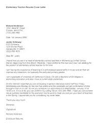 Cover Letter Examples For Education Cover Letter For Educational