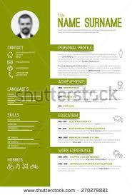 Vector minimalist cv / resume template - green version