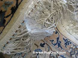 clear ng tape was used to hide protect this nain rug s fringe but pulling