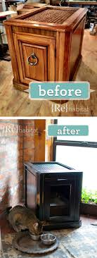 cat litter box furniture diy. DIY Hiding Cat Litter Boxes Using Side Cabinet Box Furniture Diy