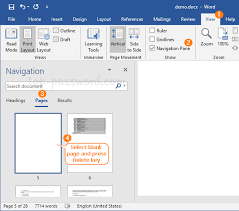 Easy Ways To Delete Blank Page In Word 2019 2016 Document
