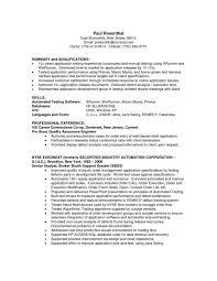 qa resume samples qa resume template