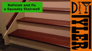 fix and refinish a squeaky staircase 012