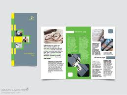 readylayouts print design templates brochures flyers maintenance company trifold brochure template