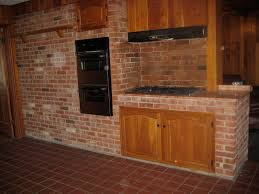 Brick Kitchen Outstanding Vintage Kitchen Design With Built In Wooden Cabinet