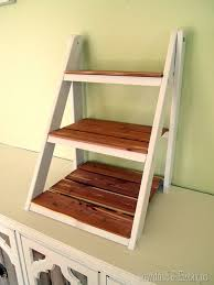 free plans and tutorial learn how to build a ladder style shelf for serving