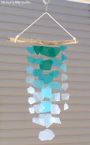 sea glass wind chime craft kit diy tutorial