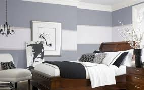 Custom Bedroom Wall Painting Ideas Of Contrast Two Tone Colors