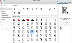 alt code shortcuts for playing cards