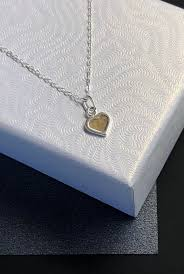 cremation heart pendant sterling memorial ashes pendant cremation ash jewelry sterling cremation charm necklace silver ash necklace