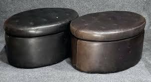 oval leather ottoman oval leather ottoman table