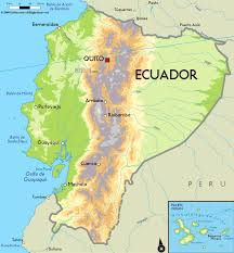 large physical map of ecuador with major cities  ecuador  south