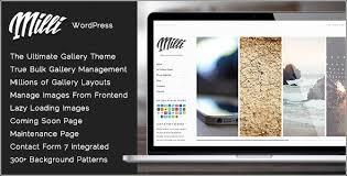 Wordpress Photo Gallery Theme Milli V1 0 7 The Ultimate Photo Gallery Wordpress Theme