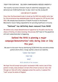Actions To Sept 16 Sussex Defend The Nhs